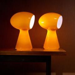 Italian Mushroom Table Lamps, pair - Mass Modern Design Auction - Wright