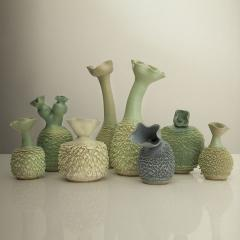 New Haas Brothers Accretion Vases featuring Changium Glaze