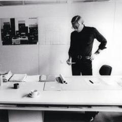 Dieter Rams in his studio