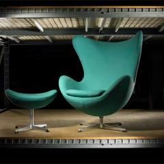 Lot # 311 - Egg chair and ottoman by Arne Jacobsen - Wright Auction