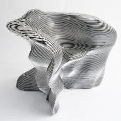 Aluminum Slice Chair by  Mathias Bengtsson
