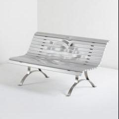 'Aluminum Bench' by Pablo Reinoso