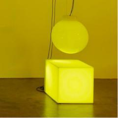 Angela Bulloch Plastic Sphere Cube Triangle - Yellow 2010
