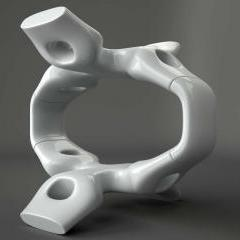 Baldaquin de Pury - Fiberglass, enamel pearlescent finish, internal steel structure - Asymptote
