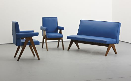 Pair of 'Senate' chairs, 1952-56 by Pierre Jeanneret
