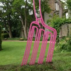 Michael Craig Martin - Sudeley Pitchfork, 2008 - Installation image, The Artists' Playground, 2008 Photography ©Duncan Ward 2008