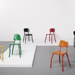 Set of six prototype 'Clay' chairs by Maarten Baas