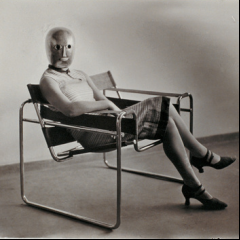Erich Consemöller, Untitled (Woman [Lis Beyer or Ise Gropius] in B3 club chair by Marcel Breuer), c. 1926