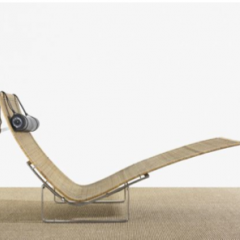 Poul Kjaerholm, chaise lounge, pk 24, wright.