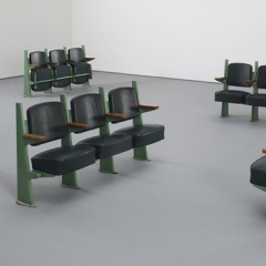 Jean Prouve - Row of three lecture hall chairs