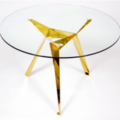 Gold Leaf Origami Café Table, designed by Anthony Dickens