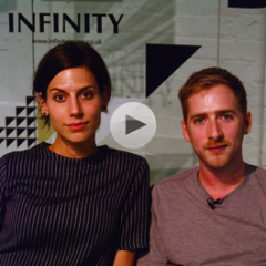 Sarah van Gameren and Tim Simpson (Studio Glithero) at the DeTnk.TV Studio at Tent London 2009