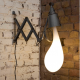 """Accordian"" Light Blub Lamp by Pieke Bergmans"