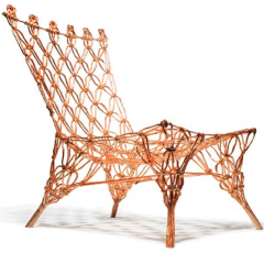 Golden Knotted chair by Marcel Wanders