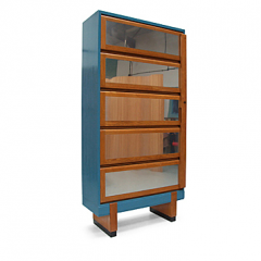 Block Bookcase, 1950s (blue)