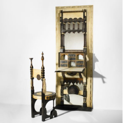 Secretaire and chair by Carlo Bugatti, c. 1905