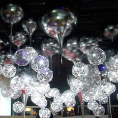'Light Light' pendants by Tom Dixon for Audi's Art of Progress installation at Design Miami 2009