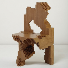 Philippe Morel's 'Best Test 1-400' or 'Computational' chair, 2004, which sold for $23,750 (pre-sale estimate $12,000-$18,000)