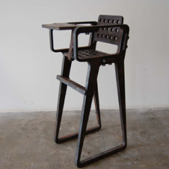 Flame Cut Series High Chair by Tom Dixon  2008