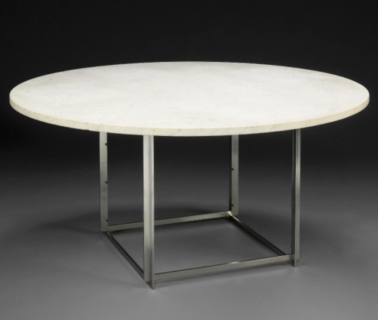 furniture poul kjaerholm pk54. PK54 Chrome-plated Steel And Marble Circular Dining Table Designed 1963 By Poul Kjærholm Furniture Kjaerholm Pk54 M