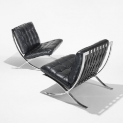 Barcelona chairs by Ludwig Mies Van Der Rohe, 1928/c. 1935
