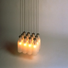 Tejo Remy 'Milk Bottle Lamp' 1993 - Photo by Hans van der Mars, courtesy DMD