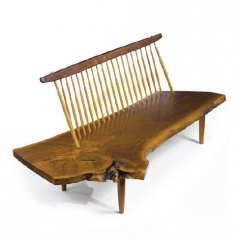 'Conoid' bench by George Nakashima, 1979