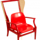 'Custom Made Chair' - Red Armchair by Karen Ryan