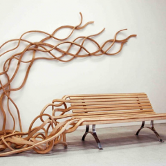 Spaghetti Bench by Pablo Reinoso - Design High Louise Blouin Foundation and Carpenter's Workshop Gallery 2009