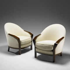 Armchairs model MF 732, pair by Pierre Chareau, 1924