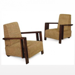 Pair of Club Chairs by Andre Sornay circa 1930