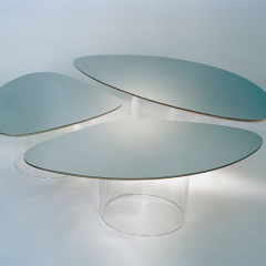 Nenuphar Miroir Table by Janette Laverriere - Perimeter Editions - Sold for roughly $35,000