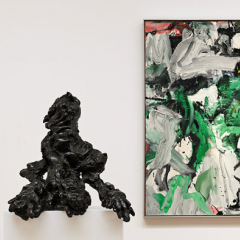 Works by Willem de Kooning on view at Sotheby's, 2009