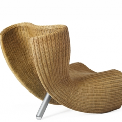 Wicker and Steel chair by Marc Newson