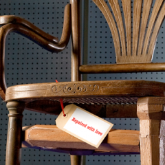 Thonet chair, repaired by Harco Rutgers. Photo: Leo Veger
