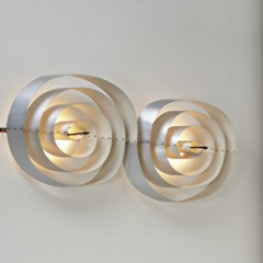 Exceptional large wall light, 1955 by Poul Henningsen