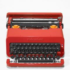 Ettore Sottsass, Valentine typewritter - estimate $300 - 500. Wright Modern Design Auction 2009