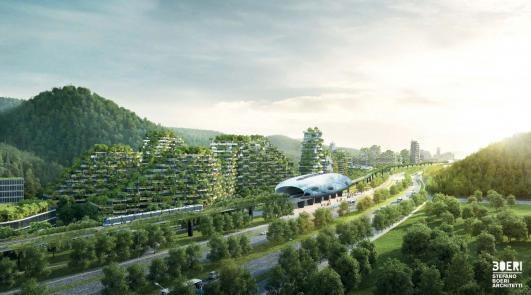 "China breaks ground on first ""Forest City"" that fights air pollution"