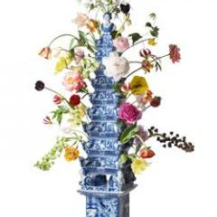 Traditional pyramid with flowers - Studio Marten Aukes.