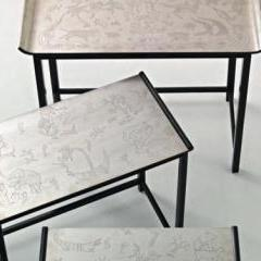Pair of 'Noah's Ark' nesting tables by Nils Fougstedt 