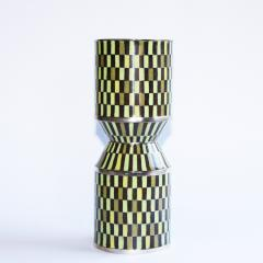 Green Enamel Vase by Christian Tortu