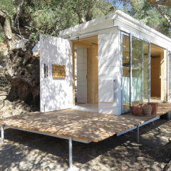 Light-filled off-grid tiny home on wheels