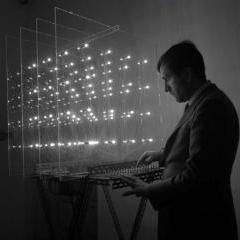 'Homage to Fadat', lights, switches, plexiglass and steel, 1967