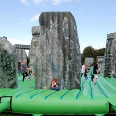 An Inflatable Stonehenge on Tour, Sacrilege by Jeremy Deller