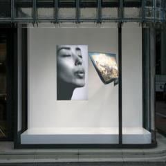 Hermès shop in Tokyo with a special window installation by japanese designer Tokujin Yoshioka