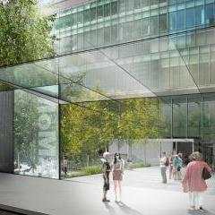 A rendering shows a proposed new entrance to the Museum of Modern Art's sculpture garden along 54th Street
