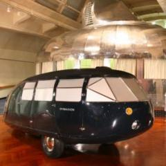 Dymaxion House and photograph from the Collection of The Henry Ford, Dearborn, MI. 1934 Dymaxion '2' 4D.
