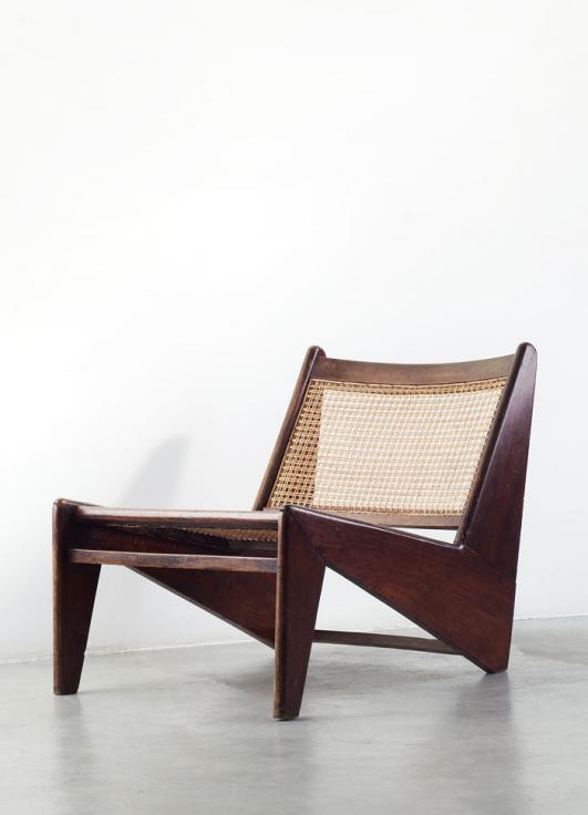 Galerie Patrick Seguin_Kangourou lounge chair by Pierre Jeanneret in 1960