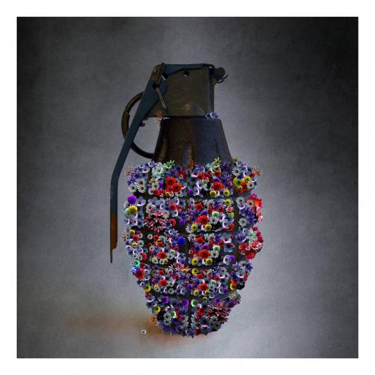 "TAP24 Tammam Azzam ""Syrian Spring"" 112x112 cm Archival Print on Cotton Paper Edition of 5"