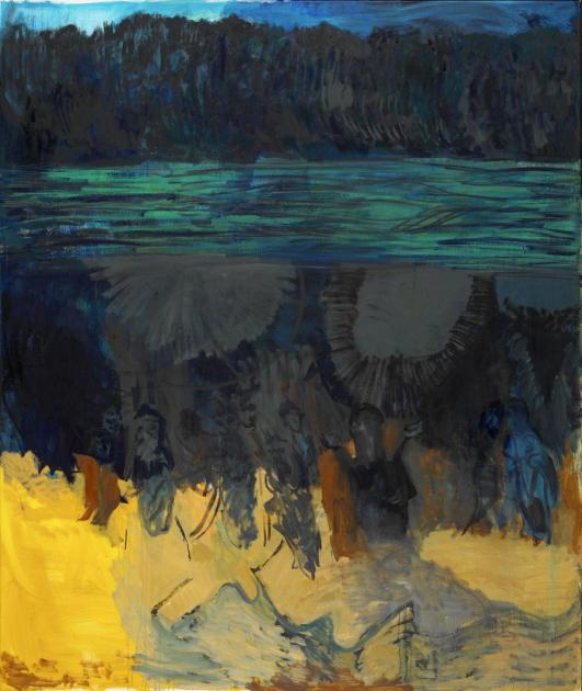 Per Kirkeby: Læso, 2001, Öl auf Leinwand, Louisiana Museum of Modern Art, Schenkung Jytte und Dennis Dresing